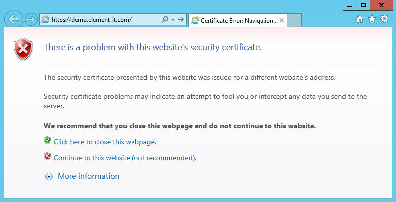 Faq forms version webdav over https with invalid certificate works unreliably while web browser will warn you about the problem and allow you to proceed webdav may refuse yadclub Choice Image