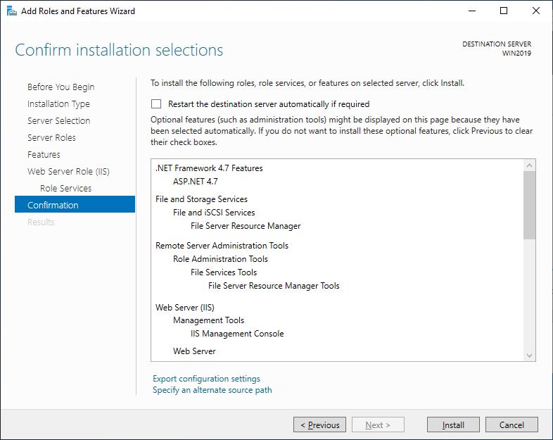 Installation (Windows version)