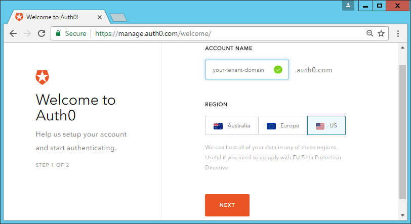 Auth0 integration  (Windows version)