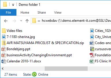 Web folders mapping (Windows version)