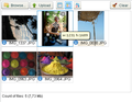 MultiPowUpload allow to crop and rotate images on client side.